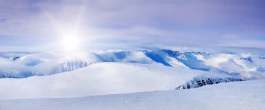 Noordpool bergen Stock Afbeeldingen