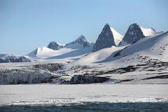 Noordpool berglandschap Royalty-vrije Stock Afbeelding