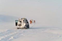 Noordpool Expeditie Royalty-vrije Stock Foto's