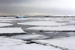 Noordpool ijslandschap Stock Foto's