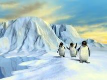 Noordpool landschap Stock Foto's