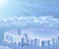Noordpool landschap Royalty-vrije Stock Foto