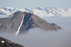 Noordpool landschap - gletsjer en bergen Royalty-vrije Stock Foto's