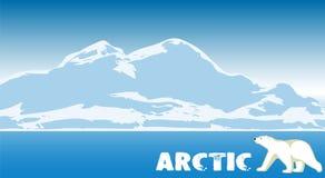 Noordpool landschap Natuurlijke achtergrond royalty-vrije illustratie