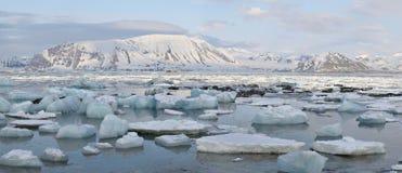 Noordpool landschap - PANORAMA Royalty-vrije Stock Afbeeldingen