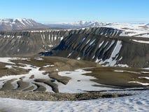 Noordpool Landschap, Svalbard Royalty-vrije Stock Foto's