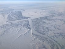 Noordpool luchtmening Stock Foto
