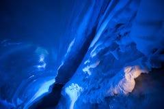 Noordpool Noordelijk ijshol in Noorwegen Svalbard in Longyearbyen-stad stock afbeeldingen