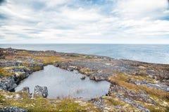 Noordpool Oceaankust Royalty-vrije Stock Foto's