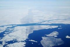 Noordpool Overzees Ijs Royalty-vrije Stock Foto's