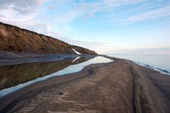 Noordpool overzeese van de eilandzomer kalme kust Royalty-vrije Stock Fotografie