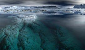 Noordpool Scène Stock Foto's