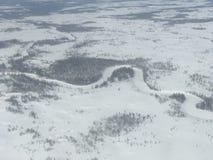 Noordpool Toendra Royalty-vrije Stock Afbeeldingen