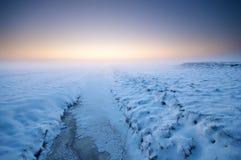 Noordpool zonsopgang Royalty-vrije Stock Foto's