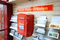 Noordpoolcirkelpostbox Royalty-vrije Stock Afbeelding