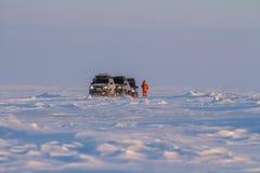 Noordpoolexpeditie in tiksi Stock Afbeelding
