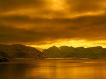 Noordpoolfjord zonder ijs Royalty-vrije Stock Foto's