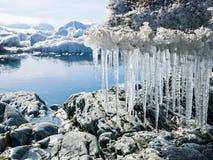 Noordpoolgletsjerlandschap - Spitsbergen Stock Foto's