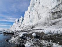 Noordpoolgletsjerlandschap - Spitsbergen Stock Afbeeldingen