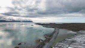 Noordpoolkaap, Spitsbergen stock foto