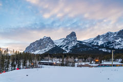 Noords Centrum in Canmore Stock Foto's