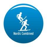 Noords gecombineerd pictogramblauw stock illustratie