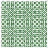 Noords groen en wit naadloos patroon Stock Fotografie