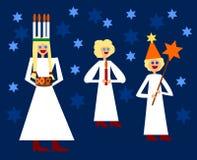 Noords Kerstmis traditioneel cijfer van heilige Lucia Royalty-vrije Stock Foto's