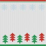 Noordse Kerstmisachtergrond Royalty-vrije Stock Afbeeldingen