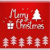 Noordse Kerstmisachtergrond Royalty-vrije Stock Fotografie
