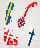 Noordse landen stock illustratie