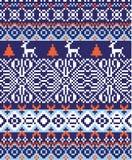 Noordse patroonachtergrond Royalty-vrije Stock Fotografie
