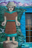 Noordwesten Inheemse Amerikaanse Muurschildering Stock Afbeeldingen