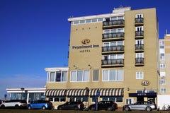 Hotel Prominent Inn Hotel. Noordwijk, the Netherlands - Januari 20, 2019: Hotel Prominent Inn Hotel against a clear blue sky stock photos