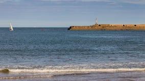 Noordzeekust in de Tyne en Slijtage, het UK Stock Afbeeldingen