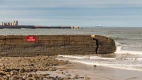 Noordzeekust in de Tyne en Slijtage, het UK Royalty-vrije Stock Foto's