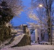 Noors de winterdorp Stock Afbeeldingen