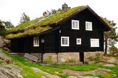 Noors huis, Noorwegen Royalty-vrije Stock Fotografie