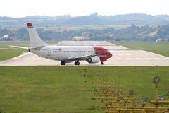 Noors lijnvliegtuig Stock Foto