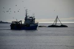 Noorse fishingboat Stock Foto