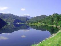 Noorse fjord stock foto's