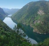 Noorse fjord stock afbeelding