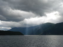 Noorse fjord Royalty-vrije Stock Foto