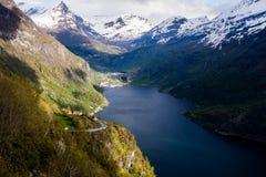 Noorse fjord Royalty-vrije Stock Foto's
