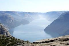 Noorse fjord geirangerfjord Royalty-vrije Stock Afbeeldingen
