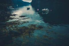 Noorse Fjordbezinningen Stock Foto's