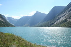 Noorse fjorden royalty-vrije stock foto