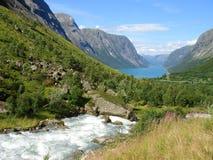 Noorse fjorden royalty-vrije stock afbeelding