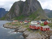 Noorse fjorden stock afbeelding
