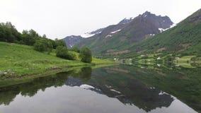 Noorse fjorden stock videobeelden